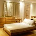 タモ材ベッドルームファニチャー